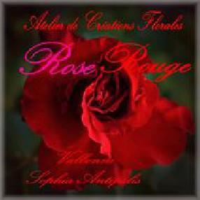 Atelier de Créations Florales Rose Rouge Valbonne